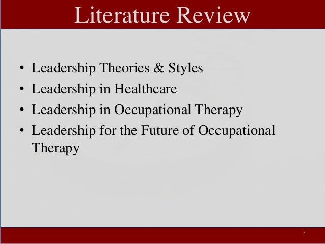 help with leadership literature review