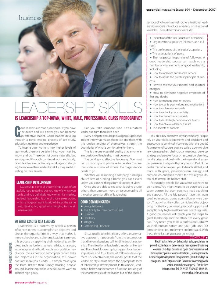 Leadership Business Page Essential   December 2007