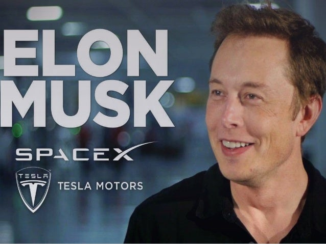 ELON MUSK  CEO and CTO of SpaceX.  CEO and product architect of Tesla Motors.  Chairman of SolarCity.  He is the found...