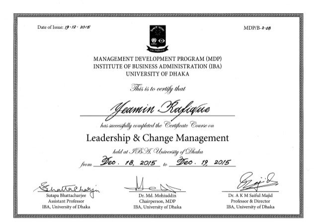 certificate management change leadership slideshare upcoming