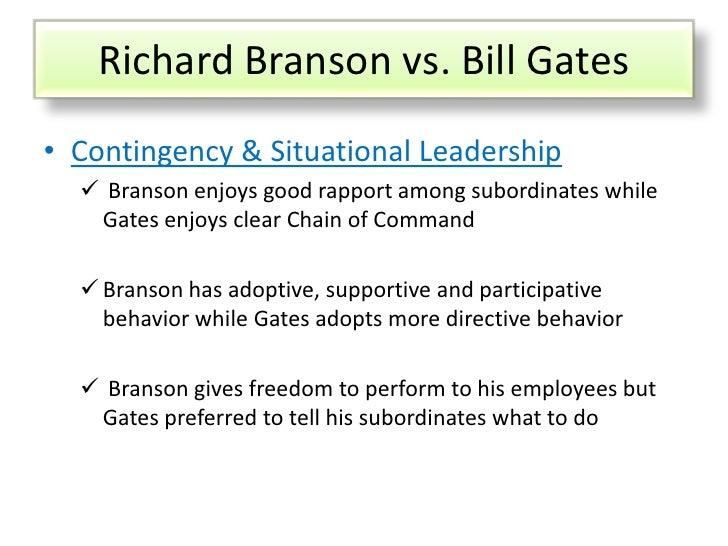 leadership comparison between sir richard branson