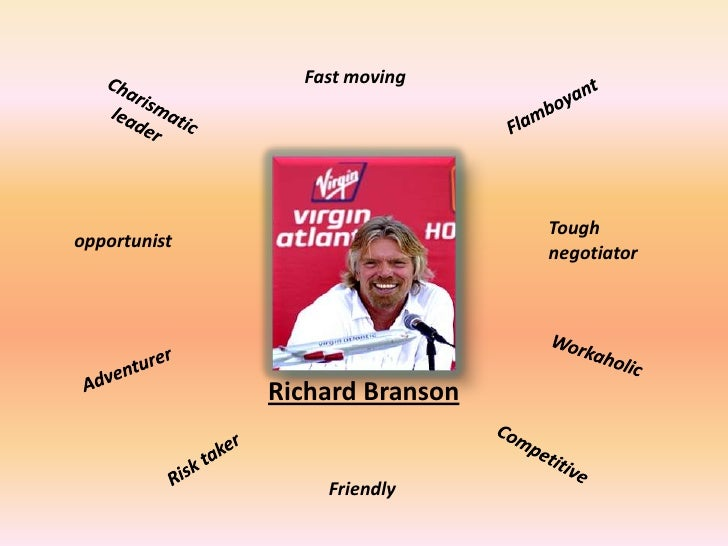 richard branson leadership essay Mgt 500 assignment 3 leadership of richard branson december 13, 2014 introduction leadership is defined as the process of influencing an organized group.
