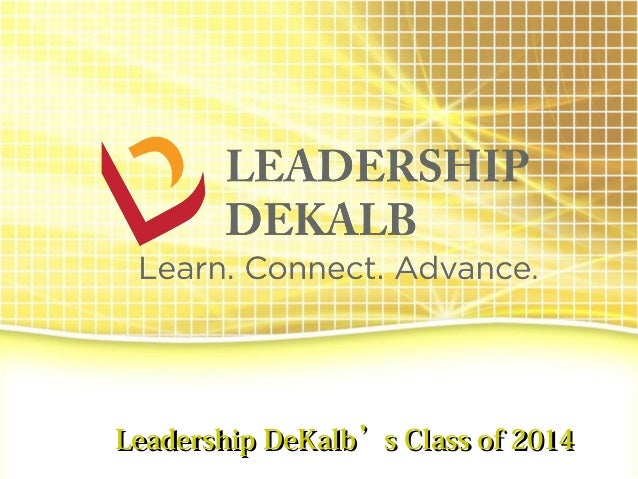 Leadership DeKalb's Class of 2014