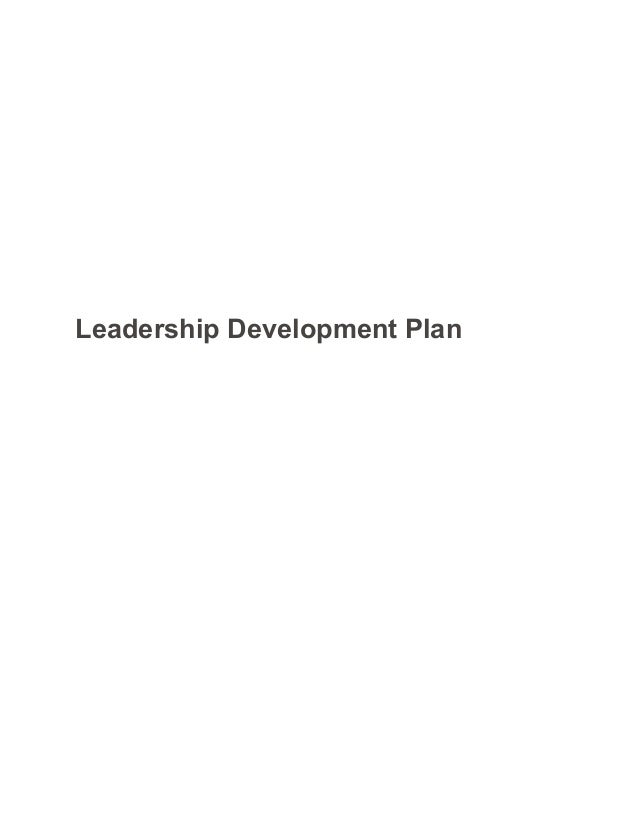 leadership development plan sample paper
