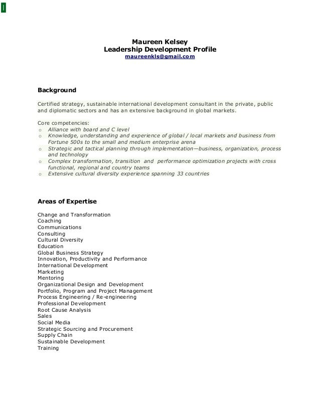 Maureen Kelsey Leadership Development Profile maureenkls@gmail.com Background Certified strategy, sustainable internationa...