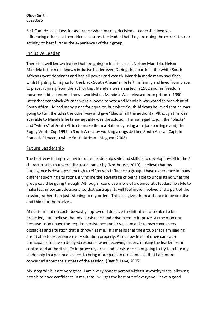 Leadership conclusion essay