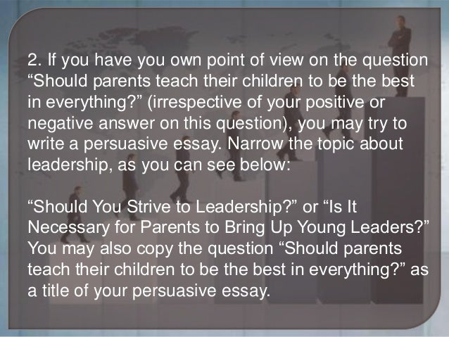 leadership essay about yourself Leadership essays explore the concept of leadership they can  with  leadership, you may find yourself in a better position to write your essay.