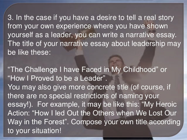 the leadership challenge essay It means the ability of students to challenge each other academically without uncertain destructions this in the long run, has put new life academy at the fore front of academic giants this means that the fact that new life academy has focused on maintaining a small population, individual students have gained academic leadership.