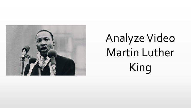 AnalyzeVideo Martin Luther King