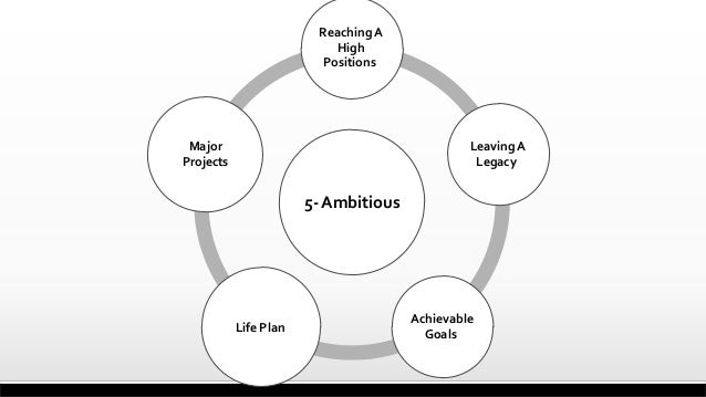 5-Ambitious ReachingA High Positions LeavingA Legacy Achievable Goals Life Plan Major Projects
