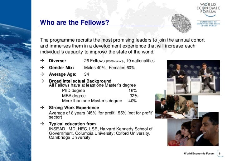 wef global leadership fellows essay Top spot for one-year uk programmes for third straight year  the world economic forum is more than davos  pacific global leadership is in the ascendancy.