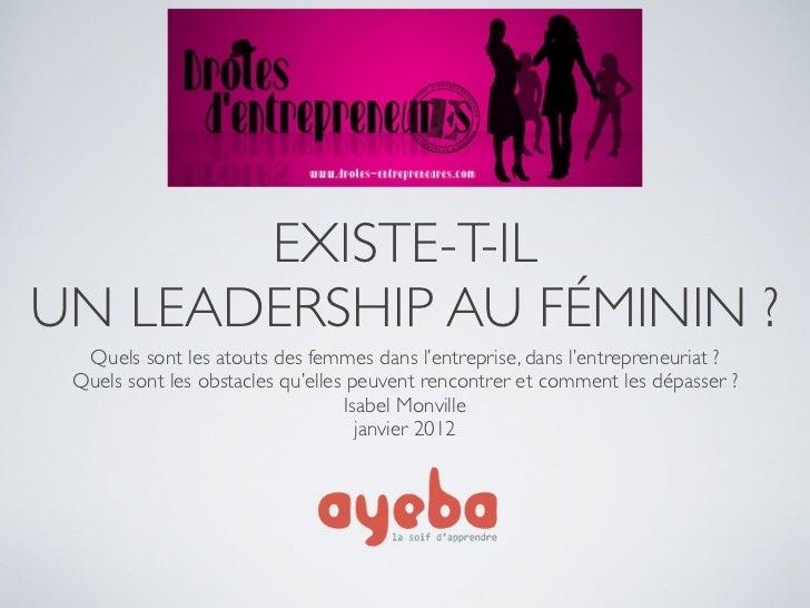 leadership feminin. Black Bedroom Furniture Sets. Home Design Ideas