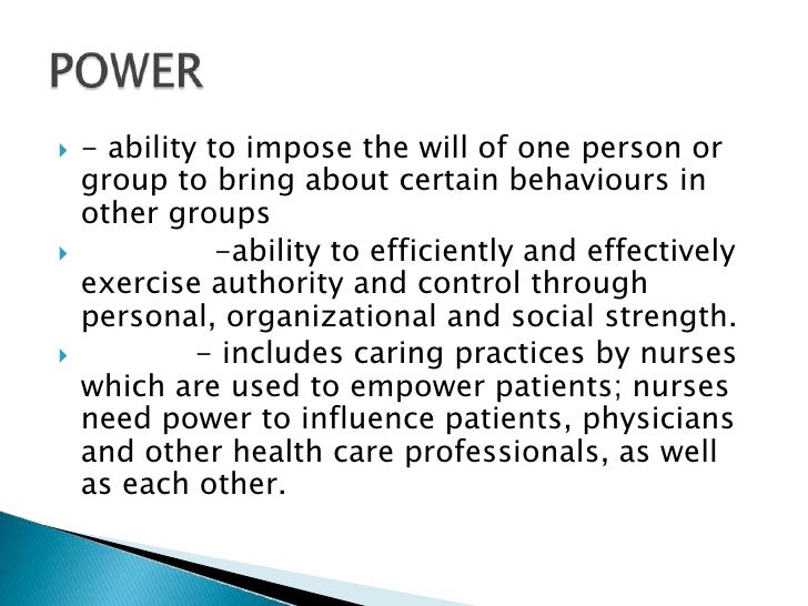 power conflict and challenges in empowerment of nurses