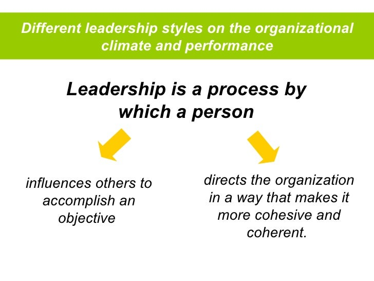 The impact of leadership styles