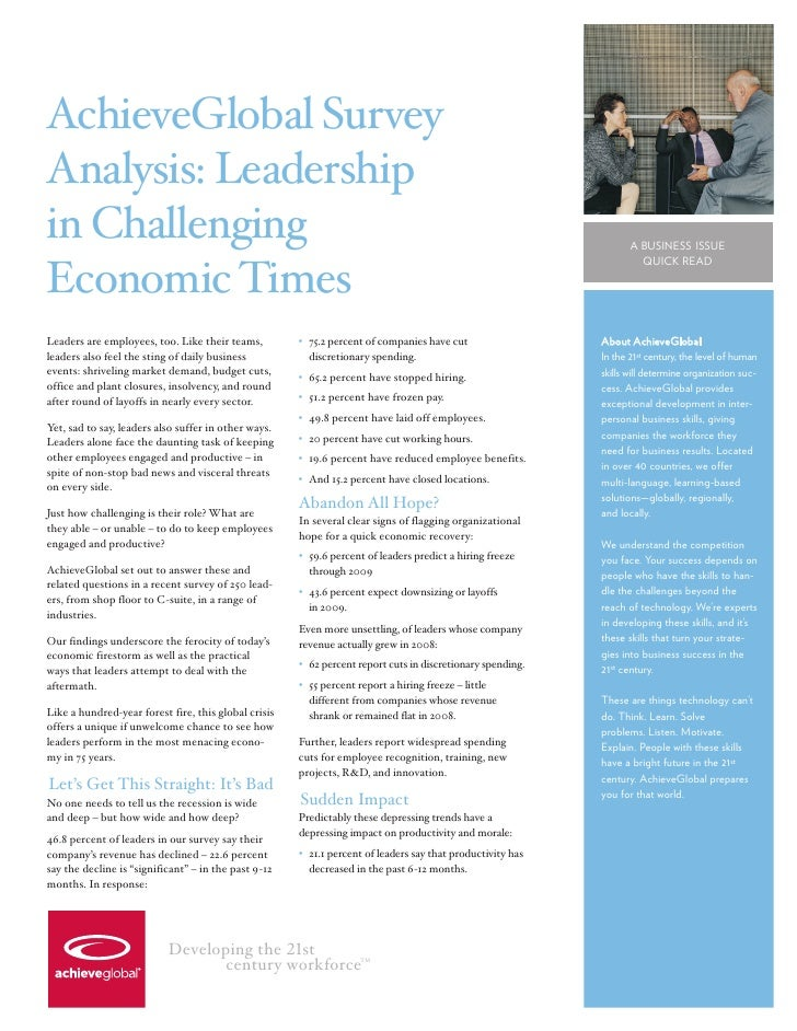AchieveGlobal Survey Analysis: Leadership in Challenging                                                                  ...