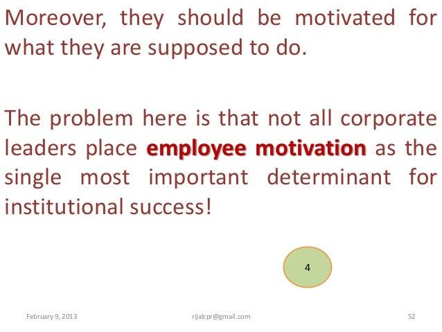 Motivation in Public Management