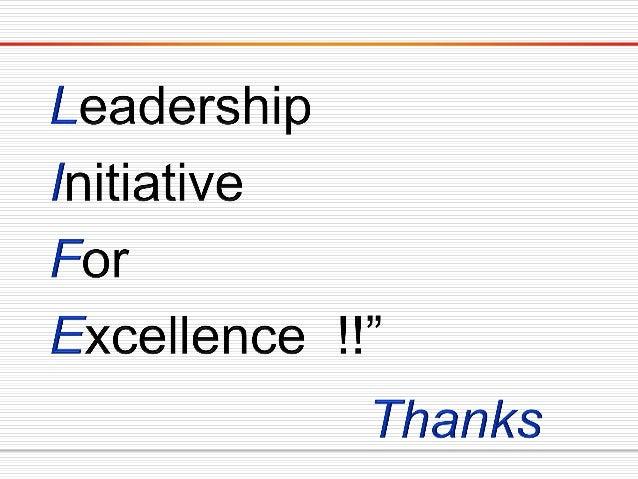 Leadership lessons  teabag