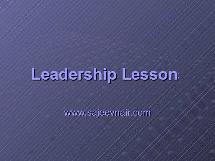 Leadership Lessons from World Cup Final www.sajeevnair.com