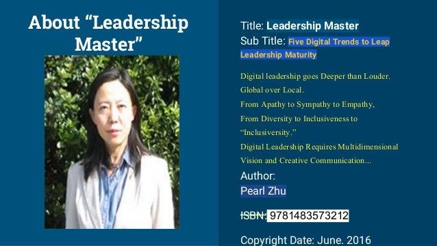 Title: Leadership Master Sub Title: Five Digital Trends to Leap Leadership Maturity Digital leadership goes Deeper than Lo...