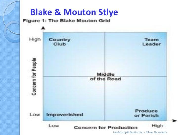 Blake & Mouton Stlye                  Leadership & Motivation - Gihan Aboueleish