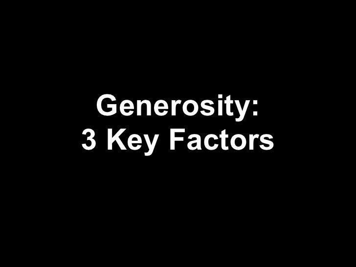 Generosity: Funding Your Vision 3 Key Factors