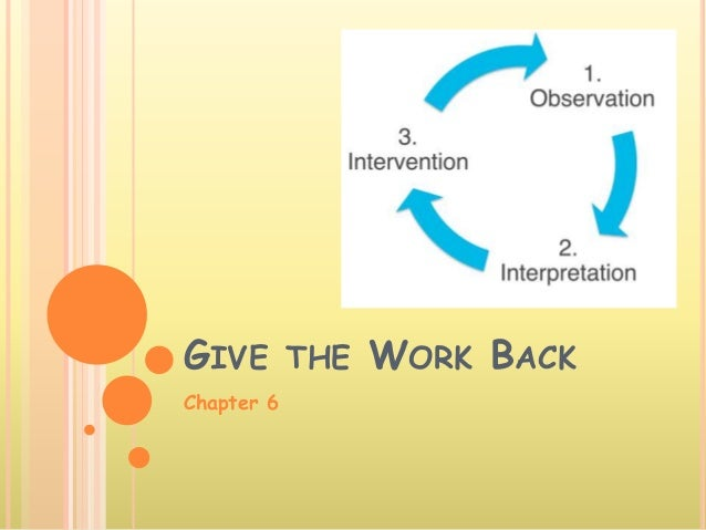 GIVE THE WORK BACK Chapter 6