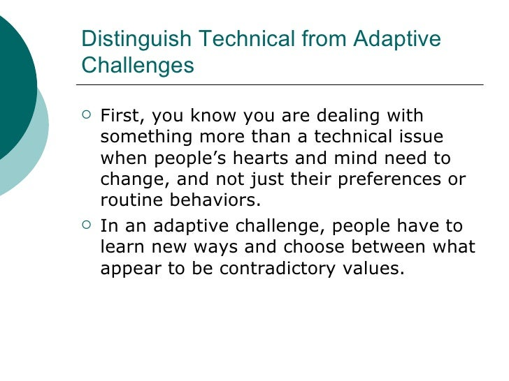 Leadership on the line power point 42 distinguish technical from adaptive challenges fandeluxe Image collections
