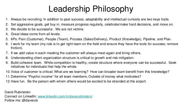 personal management philosophy Management philosophy is the philosophy adopted by a company's executives outlining how they believe a business should be directed, particularly with regard to the treatment of fellow workers and employees as such, management philosophy is less concerned with the day-to-day mechanics of running a.
