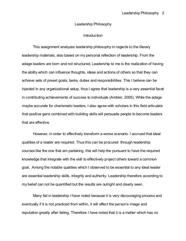 introduction to philosophy of education essay