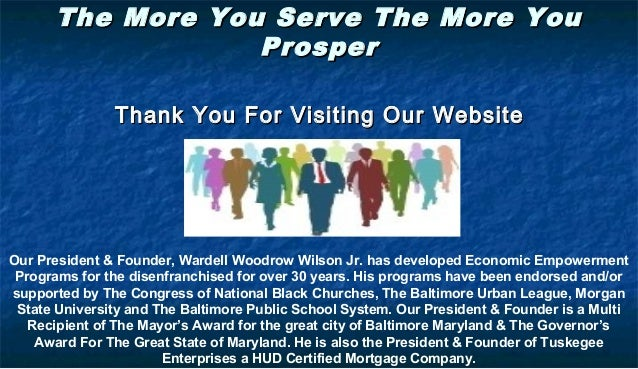 The More You Serve The More YouThe More You Serve The More You ProsperProsper Thank You For Visiting Our WebsiteThank You ...