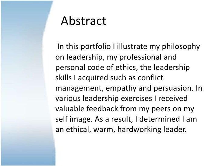 Leadership portfolio assignment