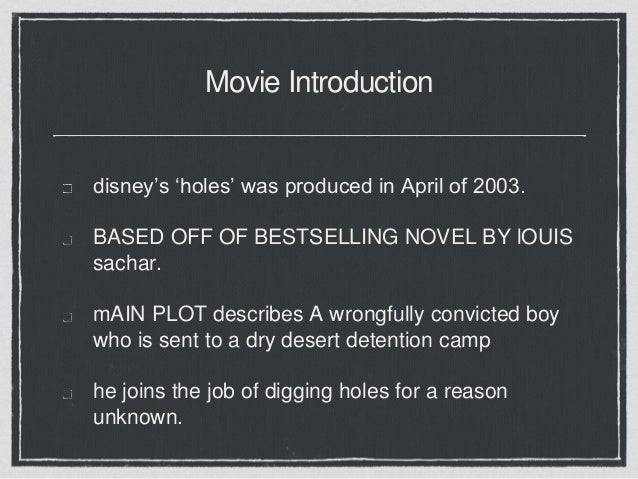 critical essay on holes Holes by louis sachar analysis of the main characters, major plot points, and themes.