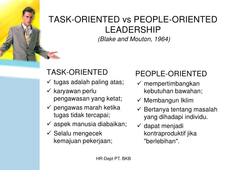 task oriented leadership Goal-oriented leadership is the preferred style of istjs and isfjs it makes use of the jungian function sensing, in an introverted direction there is an optional leadership pack that examines your use of each of the leadership styles and how you can develop.