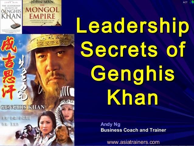 Leadership from genghis khan essay