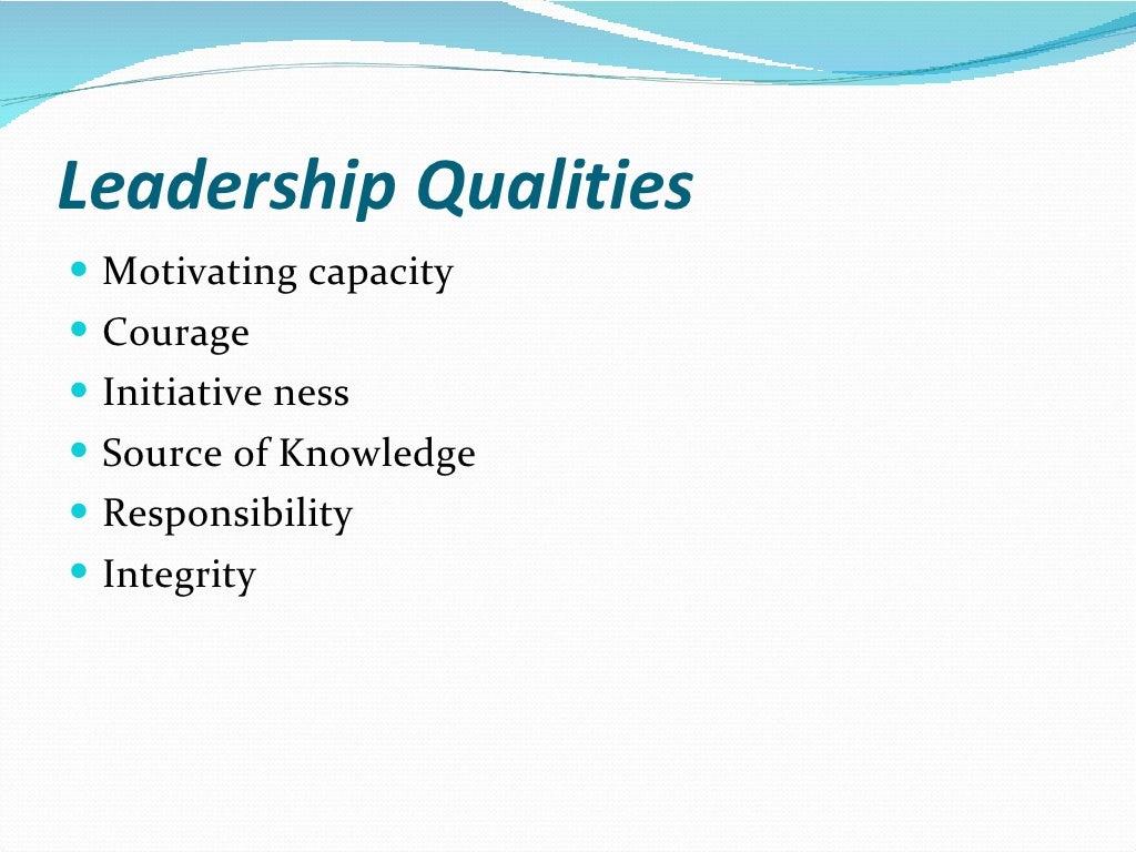 Leadership skills page 4