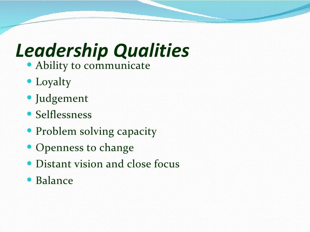 Leadership skills page 5
