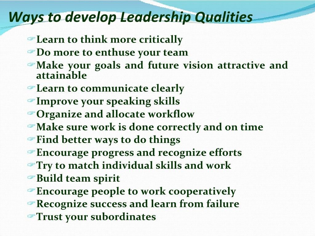 Leadership skills page 6