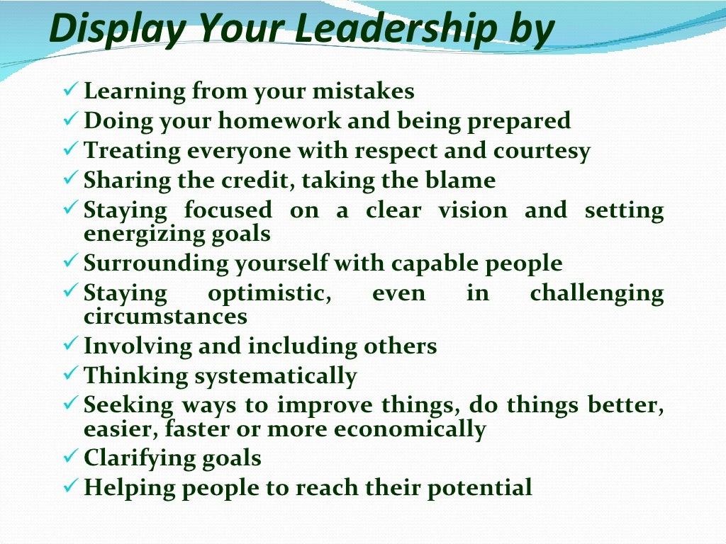Leadership skills page 9