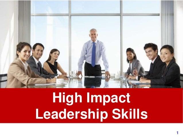 1www.exploreHR.org High Impact Leadership Skills