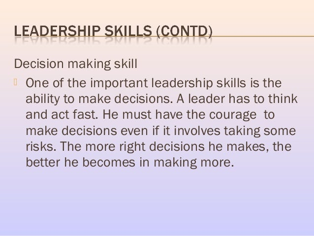essay on the importance of leadership skills Creativity and adaptability, we create a new effective leader-skills model   combine the most important existing models of leadership skill.