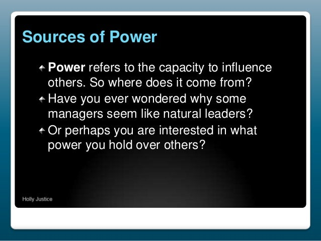 leadership sources of power