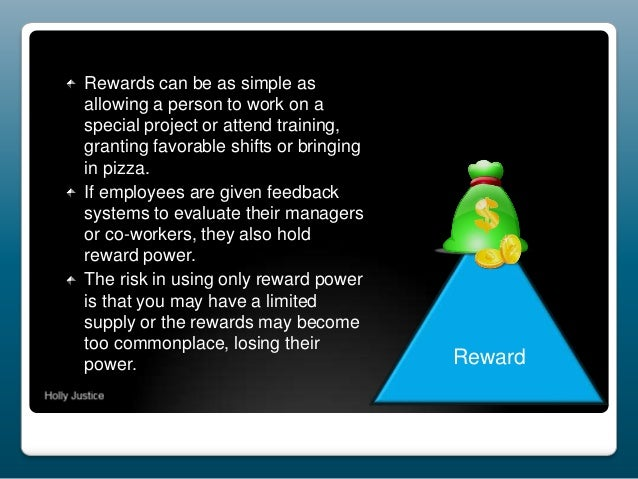 Rewards can be as simple as allowing a person to work on a special project or attend training, granting favorable shifts o...