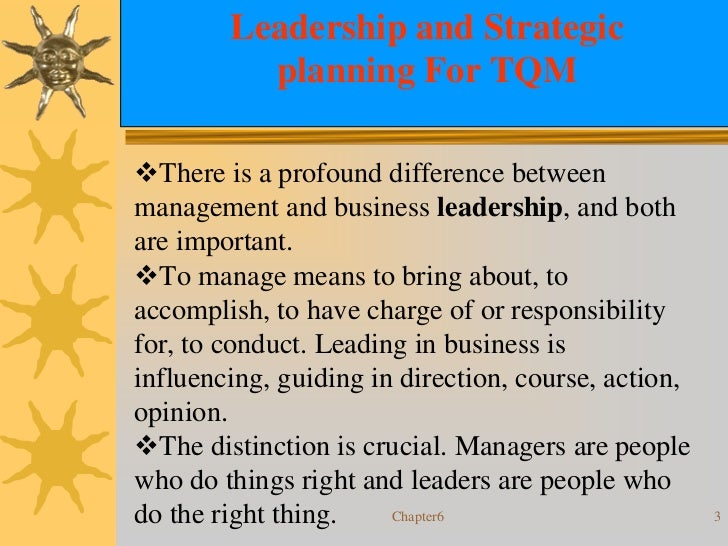 quality and leadership Quality quality management principles this document introduces seven quality management principles  leadership qmp 3.