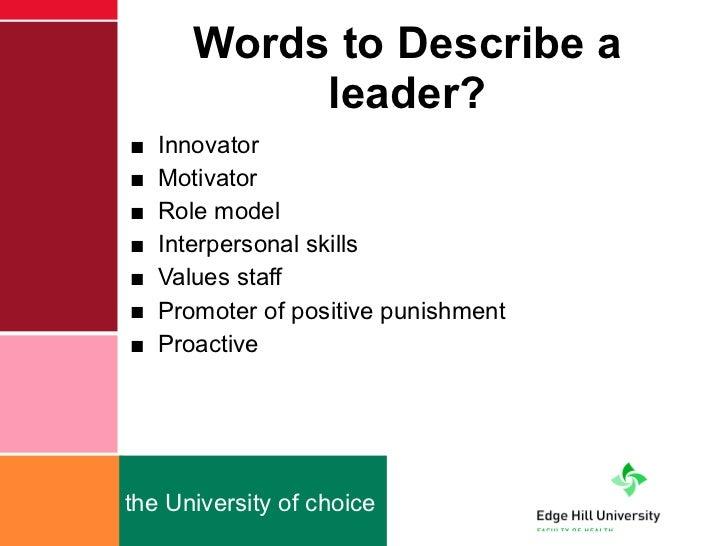 3 adjectives that describe you