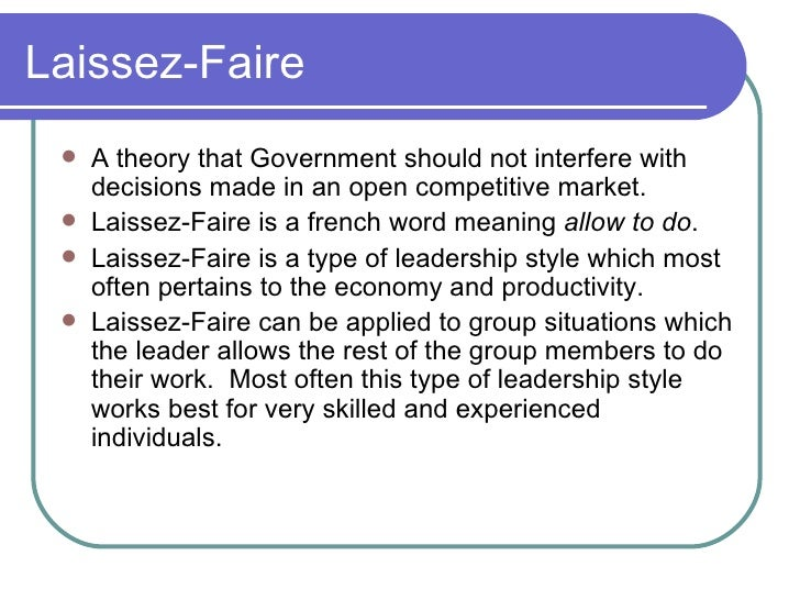 an introduction to the principle of laissez faire Introduction to business: by the government it comes from the french, meaning to leave alone or to allow to do it is one of the guiding principles of capitalism and a free market economy laissez faire economics: definition & examples related study materials related recently updated.