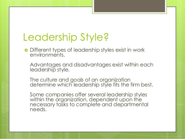 case analysis projecting personal leadership style The democratic leadership style is based on mutual respect it is often combined with participatory leadership because it requires collaboration between leaders and the people they guide this leadership style places significant responsibility on leaders and their staff.