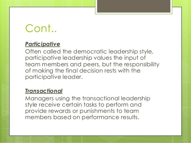 case study on leadership styles in schools Leadership and management case study #1 using a style approach which leadership style do you think a leader would need to be effective in this situation.