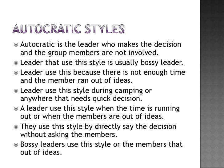 Four types of leadership styles