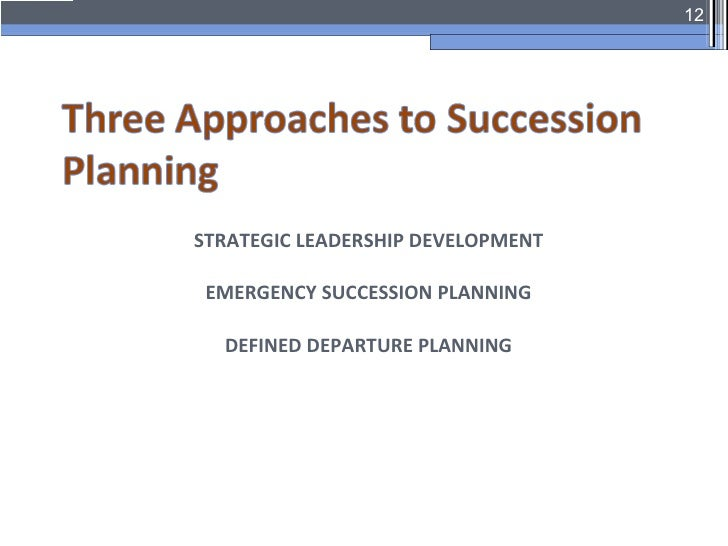 Leadership succession session2 for Emergency succession plan template