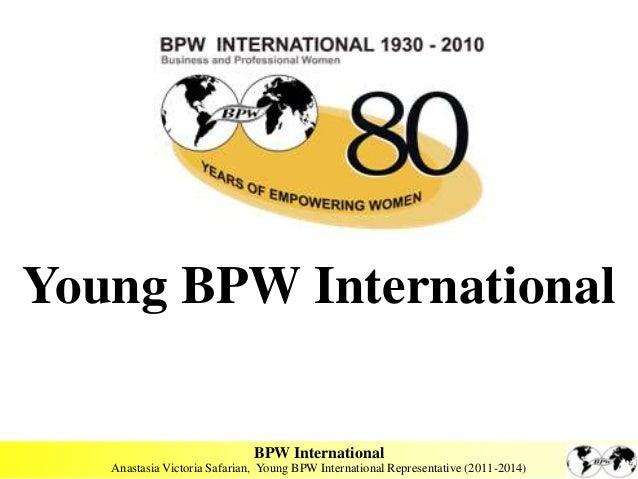 Young BPW International                              BPW International   Anastasia Victoria Safarian, Young BPW Internatio...